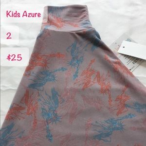 LuLa Roe kids Azure skirt